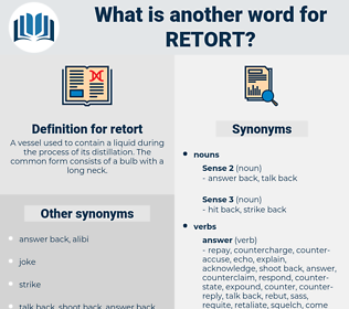retort, synonym retort, another word for retort, words like retort, thesaurus retort