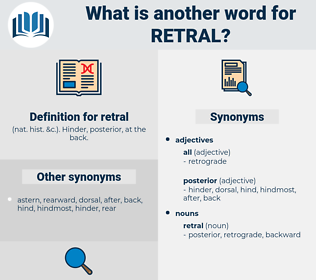 retral, synonym retral, another word for retral, words like retral, thesaurus retral