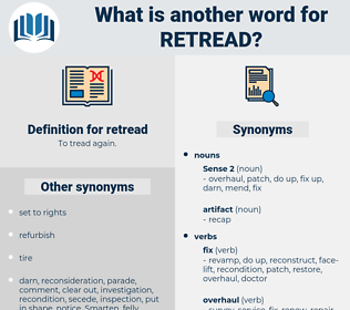 retread, synonym retread, another word for retread, words like retread, thesaurus retread