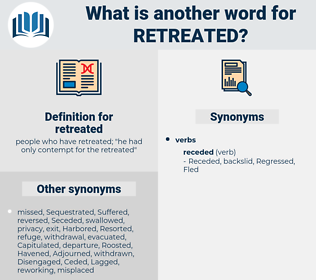 retreated, synonym retreated, another word for retreated, words like retreated, thesaurus retreated