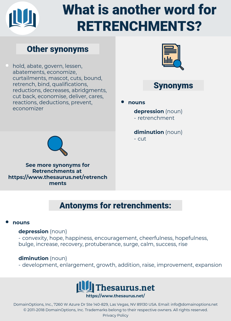 retrenchments, synonym retrenchments, another word for retrenchments, words like retrenchments, thesaurus retrenchments