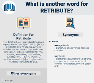 Retribute, synonym Retribute, another word for Retribute, words like Retribute, thesaurus Retribute