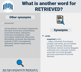 Retrieved, synonym Retrieved, another word for Retrieved, words like Retrieved, thesaurus Retrieved
