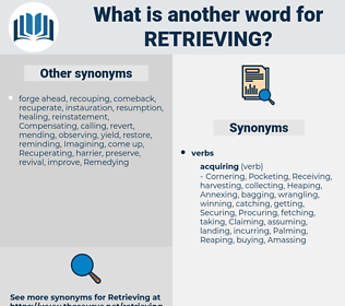 Retrieving, synonym Retrieving, another word for Retrieving, words like Retrieving, thesaurus Retrieving