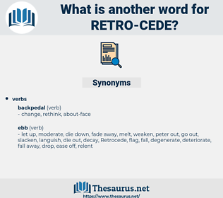 retro-cede, synonym retro-cede, another word for retro-cede, words like retro-cede, thesaurus retro-cede