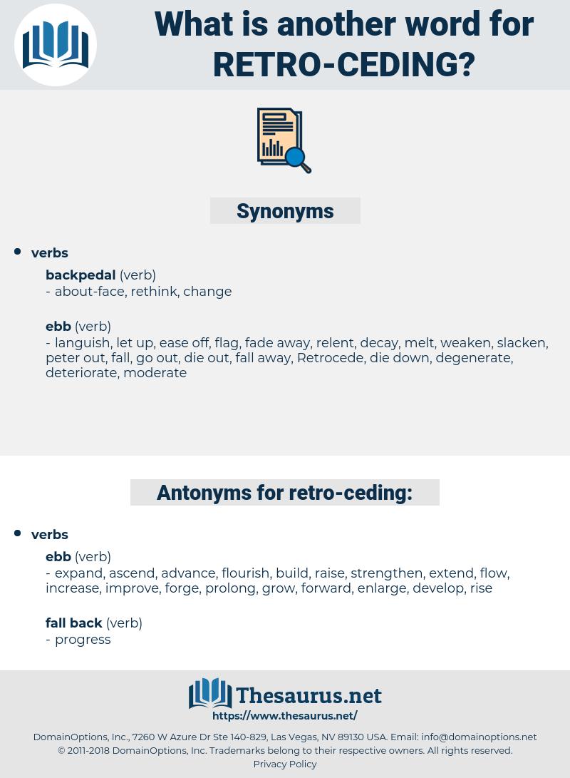 retro ceding, synonym retro ceding, another word for retro ceding, words like retro ceding, thesaurus retro ceding