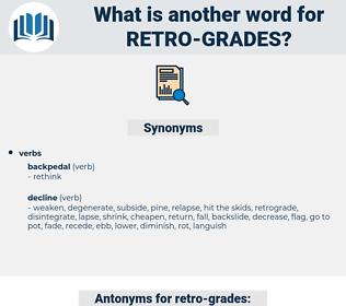 retro grades, synonym retro grades, another word for retro grades, words like retro grades, thesaurus retro grades