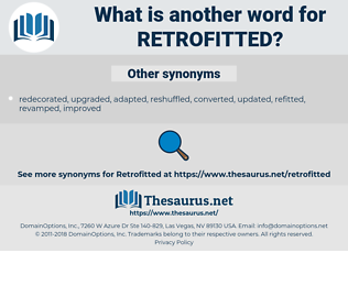 retrofitted, synonym retrofitted, another word for retrofitted, words like retrofitted, thesaurus retrofitted
