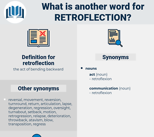 retroflection, synonym retroflection, another word for retroflection, words like retroflection, thesaurus retroflection