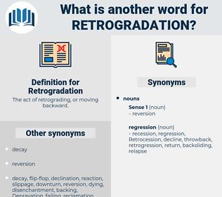 Retrogradation, synonym Retrogradation, another word for Retrogradation, words like Retrogradation, thesaurus Retrogradation