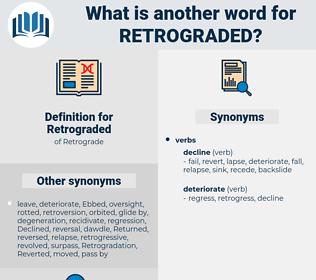 Retrograded, synonym Retrograded, another word for Retrograded, words like Retrograded, thesaurus Retrograded