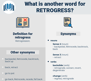 retrogress, synonym retrogress, another word for retrogress, words like retrogress, thesaurus retrogress