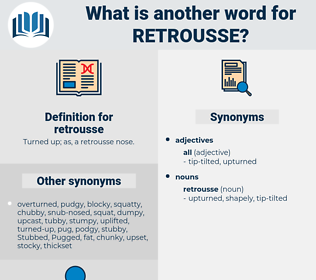 retrousse, synonym retrousse, another word for retrousse, words like retrousse, thesaurus retrousse
