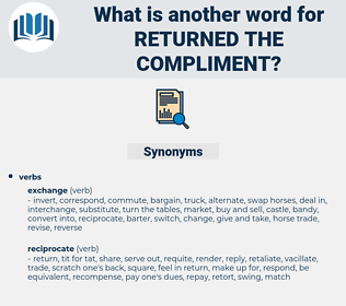 returned the compliment, synonym returned the compliment, another word for returned the compliment, words like returned the compliment, thesaurus returned the compliment