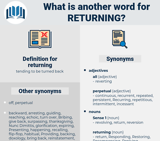 returning, synonym returning, another word for returning, words like returning, thesaurus returning