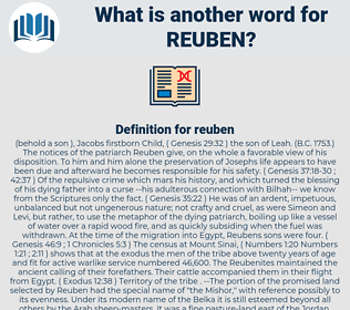 reuben, synonym reuben, another word for reuben, words like reuben, thesaurus reuben
