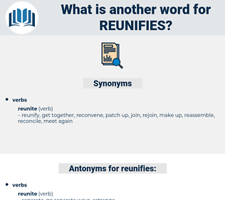 reunifies, synonym reunifies, another word for reunifies, words like reunifies, thesaurus reunifies