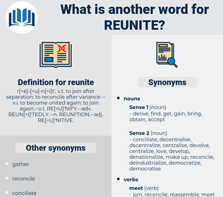 reunite, synonym reunite, another word for reunite, words like reunite, thesaurus reunite