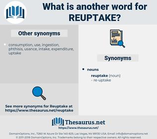 reuptake, synonym reuptake, another word for reuptake, words like reuptake, thesaurus reuptake