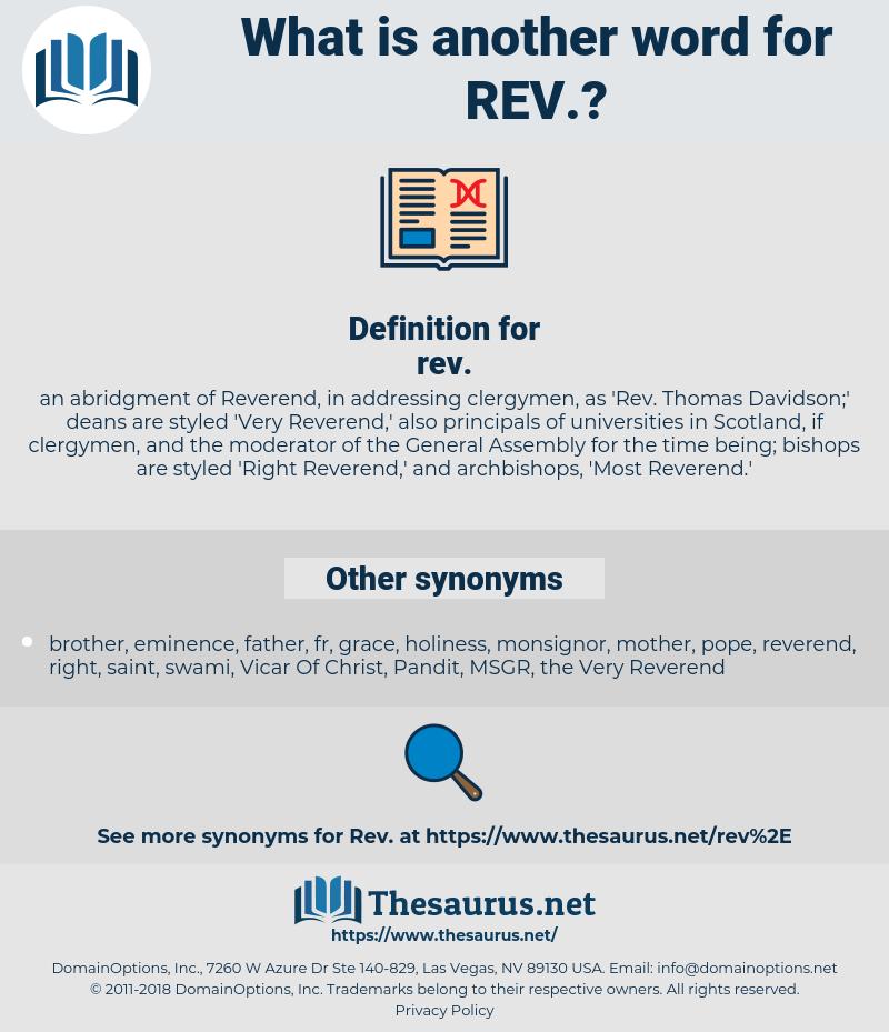 rev, synonym rev, another word for rev, words like rev, thesaurus rev