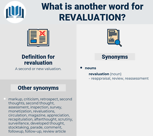 revaluation, synonym revaluation, another word for revaluation, words like revaluation, thesaurus revaluation