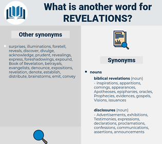 revelations, synonym revelations, another word for revelations, words like revelations, thesaurus revelations