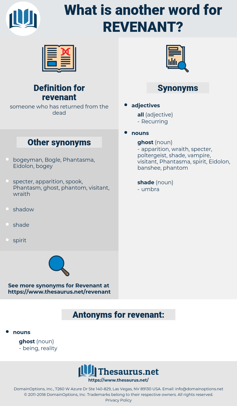 revenant, synonym revenant, another word for revenant, words like revenant, thesaurus revenant