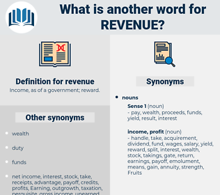 revenue, synonym revenue, another word for revenue, words like revenue, thesaurus revenue