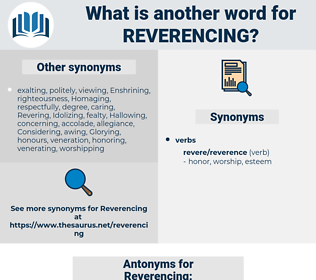 Reverencing, synonym Reverencing, another word for Reverencing, words like Reverencing, thesaurus Reverencing