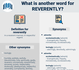 reverently, synonym reverently, another word for reverently, words like reverently, thesaurus reverently