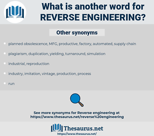 reverse engineering, synonym reverse engineering, another word for reverse engineering, words like reverse engineering, thesaurus reverse engineering