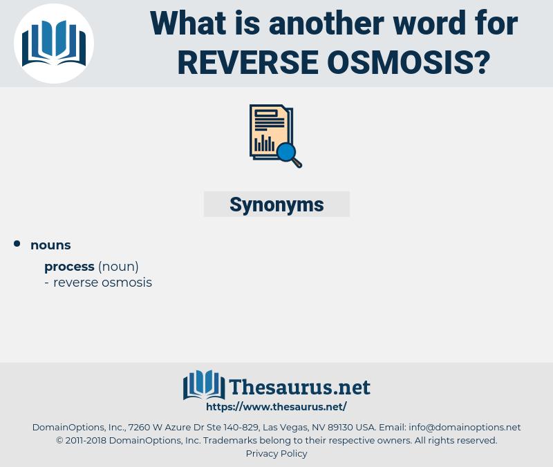 reverse osmosis, synonym reverse osmosis, another word for reverse osmosis, words like reverse osmosis, thesaurus reverse osmosis