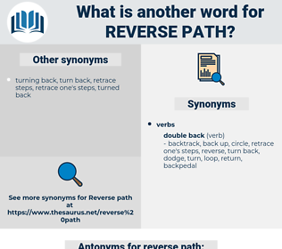 reverse path, synonym reverse path, another word for reverse path, words like reverse path, thesaurus reverse path