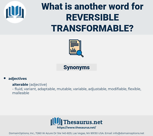 reversible transformable, synonym reversible transformable, another word for reversible transformable, words like reversible transformable, thesaurus reversible transformable