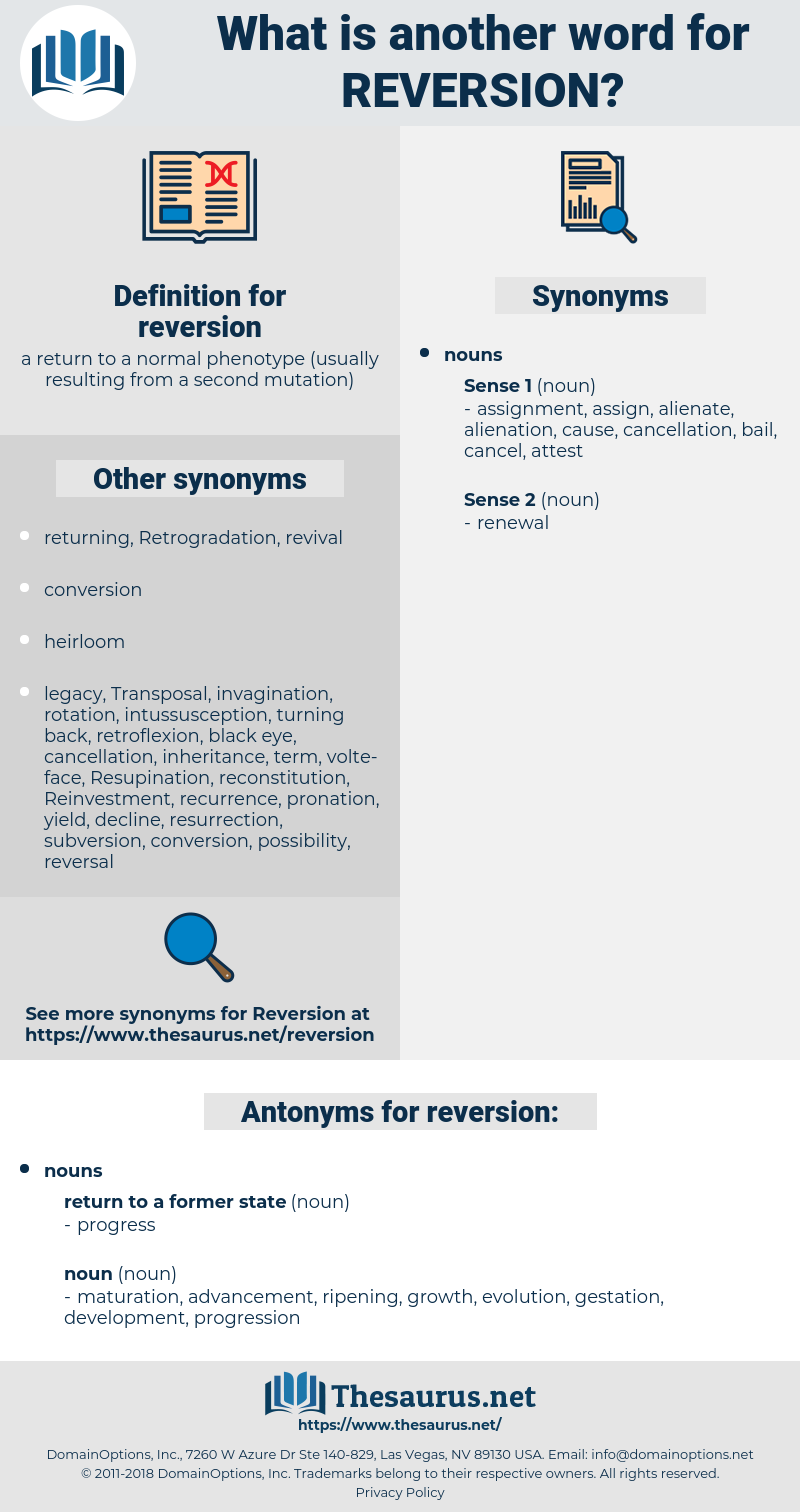 reversion, synonym reversion, another word for reversion, words like reversion, thesaurus reversion