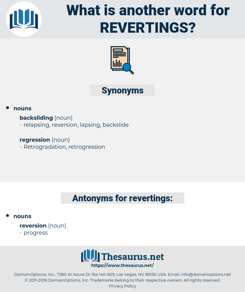 revertings, synonym revertings, another word for revertings, words like revertings, thesaurus revertings