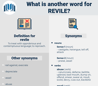 revile, synonym revile, another word for revile, words like revile, thesaurus revile