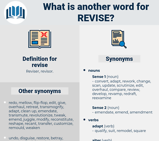 revise, synonym revise, another word for revise, words like revise, thesaurus revise