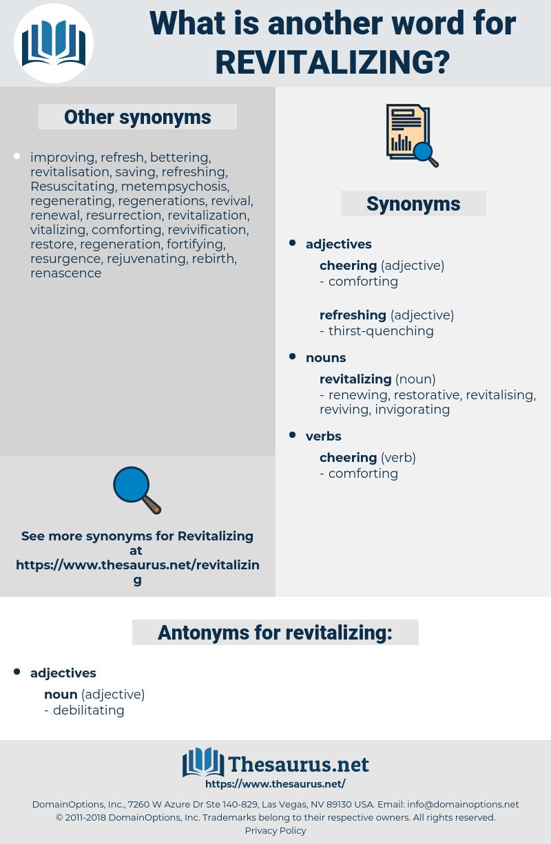 revitalizing, synonym revitalizing, another word for revitalizing, words like revitalizing, thesaurus revitalizing