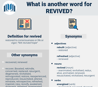 revived, synonym revived, another word for revived, words like revived, thesaurus revived