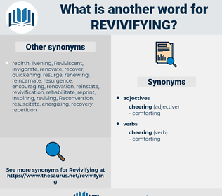 revivifying, synonym revivifying, another word for revivifying, words like revivifying, thesaurus revivifying