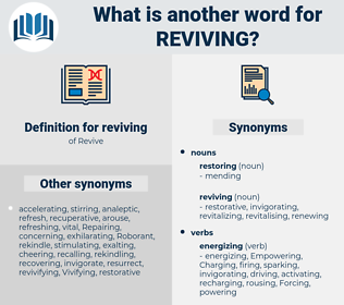 reviving, synonym reviving, another word for reviving, words like reviving, thesaurus reviving