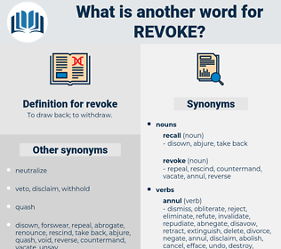 revoke, synonym revoke, another word for revoke, words like revoke, thesaurus revoke