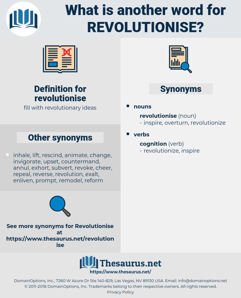 revolutionise, synonym revolutionise, another word for revolutionise, words like revolutionise, thesaurus revolutionise