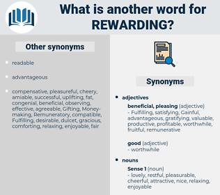 rewarding, synonym rewarding, another word for rewarding, words like rewarding, thesaurus rewarding