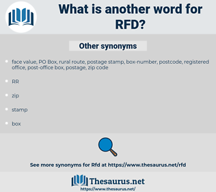 RFD, synonym RFD, another word for RFD, words like RFD, thesaurus RFD