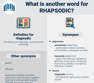 rhapsodic, synonym rhapsodic, another word for rhapsodic, words like rhapsodic, thesaurus rhapsodic