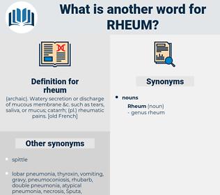 rheum, synonym rheum, another word for rheum, words like rheum, thesaurus rheum