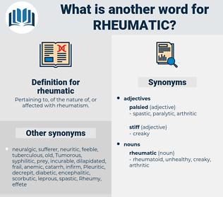 rheumatic, synonym rheumatic, another word for rheumatic, words like rheumatic, thesaurus rheumatic
