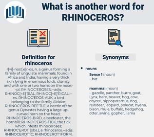 rhinoceros, synonym rhinoceros, another word for rhinoceros, words like rhinoceros, thesaurus rhinoceros